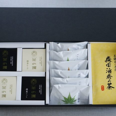 抹茶ジュレわらびもみじ森田治秀の茶箱