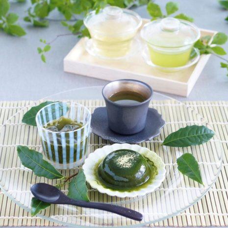 抹茶ジュレわらび奏おいしいお茶水色のよいお茶1